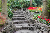 Stone pathway in park — Stock Photo