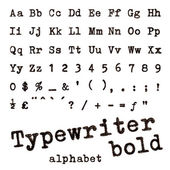 Typewriter bold alphabet. — Stock Photo