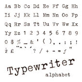 Typewriter alphabet. — Stock Photo