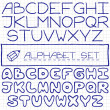Handdrawn alphabet set — Stock Vector #49217481