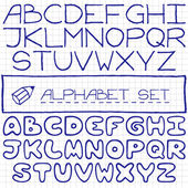 Handdrawn alphabet set — Stock Vector