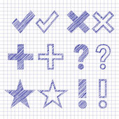Hand drawn symbols — Stock Vector