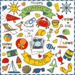 zestaw ikon kolorowe wakacje — Wektor stockowy  #49742113
