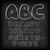 Chalk board hand drawn alphabet — Stock Vector