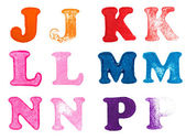Rubber stamp letters — Foto de Stock