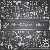 Hand drawn arrow icons set — Stock Vector