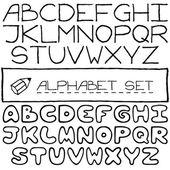Doodle letters set of two full alphabets. — ストックベクタ