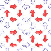 Bezešvé pozadí s šipkami — Stock vektor