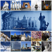 Barcelona Collage — Stockfoto