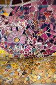 Ceramic bench Barcelona — Stock Photo