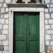 Stock Photo: Green Old Door in Dubrovnik