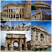 Rome Photo Collage — Stock Photo