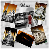 Rome Photo Collage — Stock Photo