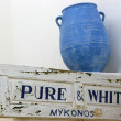 Mykonos Blue Vase,Greece — Stock Photo