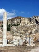 Columns in Delos,Greece — Stock Photo