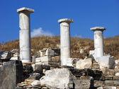 Pilares de delos, grecia — Foto de Stock