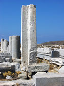 Columns in Delos,Greece — Stock Photo