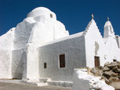 Orthodox church in Mykonos,Greece — Stockfoto