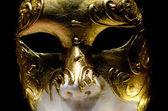 Venetian golden mask  in Venice Carnival — Stock fotografie