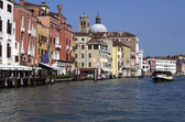 Buildings and houses at Grand Canal in Venice,Italy — Stockfoto