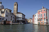 Buildings and houses at Grand Canal in Venice,Italy — Foto de Stock