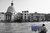 Venetië grand kanaal — Stockfoto