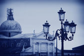 Lantern on St. Mark's Square in Venice — Stock Photo