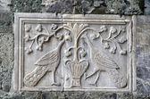 Kunst aan de muur op basiliek in san marcoplein in venetië — Stockfoto