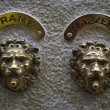 Venetian Lion Door Bell in Venice — Stock Photo #43879423
