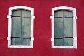 Windows antiguos en venecia — Foto de Stock