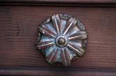 Old Venetian gilded door handle in Venice — Stock Photo