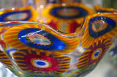 Multicolored Murano Glass Bowl in Venice — Foto Stock