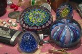 Eski murano oval topları venedik — Stok fotoğraf