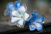 Murano Glass Blue Flowers figure in Venice — Foto de Stock