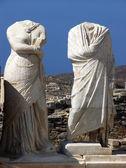 Stone Statues in Delos,Greece — Foto de Stock