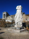 Woman Stone headless statue in Delos,Greece — Foto Stock