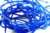 Blue Rubber Bands — Stock Photo