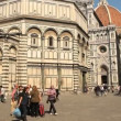 Tourists near Florence Cathedral — Stock Video #39783359