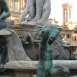 Stock Video: Fountain of Neptune, Florence