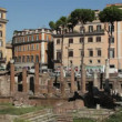 Stock Video: Ancient Romruins in largo Argentina
