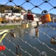 Stock Video: Love locks