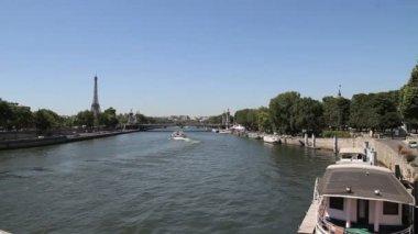 Eiffel Tower and Alexandre III bridge, Paris — Stock Video