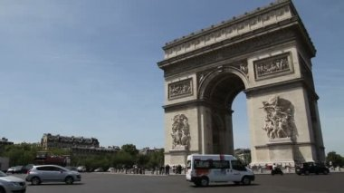Arc de Triomphe, Paris — Stock Video