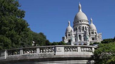 Sacre Coeur Basilica, Paris — Stockvideo