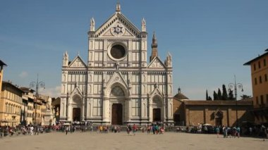 Basilica of Santa Croce, Florence — Stok video