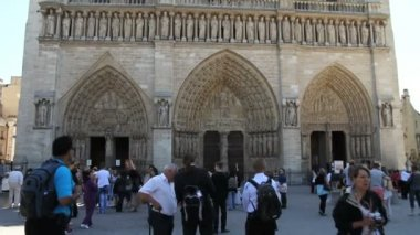 Notre Dame Cathedral — Stock Video