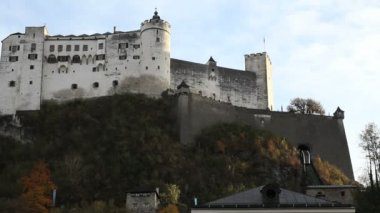 Fortress Hohensalzburg in Salzburg — Stock Video