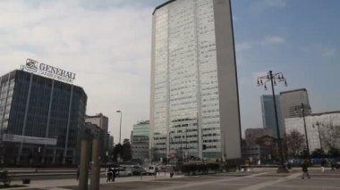 Skyscraper in Milan — Stock Video