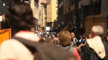 Street view of Florence, Italy — Vídeo de stock