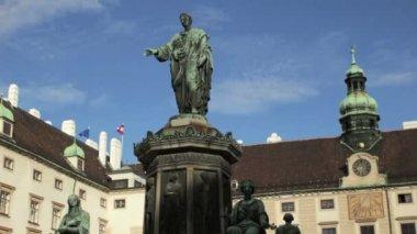 Emperor Franz statue — Stock Video